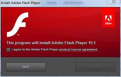 Flash Player 10.1 Installer